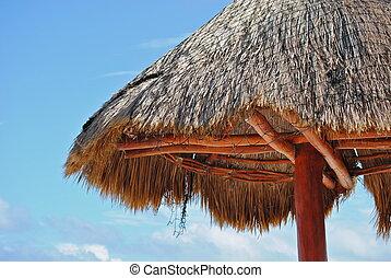 Mexican Beach Hut - A Mexican beach hut.