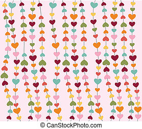 heart icons, valentines day, card, wallpaper