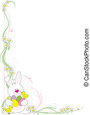 Easter Corner - A frame or border featuring an Easter Bunny...