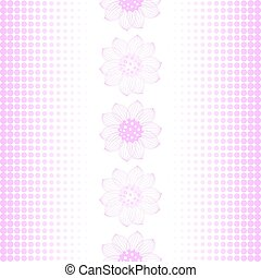 Repeating pink-white pattern