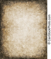 Grungy Paper Vignette - An old, vintage paper background...
