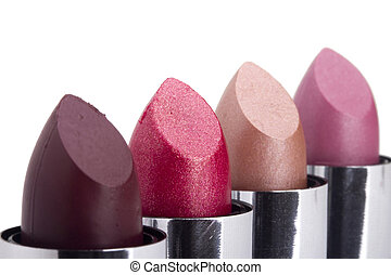 Lipstick Variety - Variety of different lipsticks isolated...