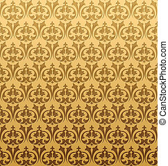 Gold Seamless Pattern. Vector Illustration