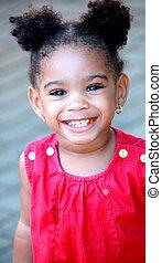 African american girl. - African american girl in a pretty...