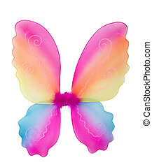 Fairy wings - Toy pink fairy wings isolated on white