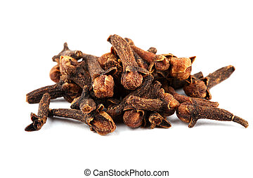 cloves - Fragrant cloves for cooking on white