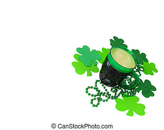 St Patricks Day - A green plastic party mug for St Patricks...