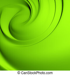 Abstract green whirlpool. Clean, detailed render....