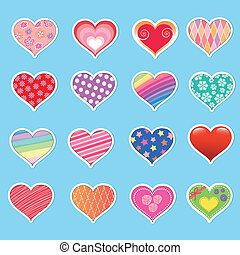 heart collection - collection of deferent hearts