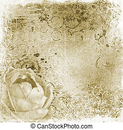vintage wallpaper background with rose