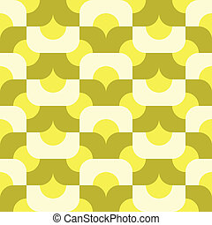 seamless sunny side up pattern - groovy pattern in citrus...