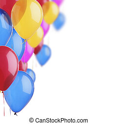 palloncini colorati sullo sfondo bianco