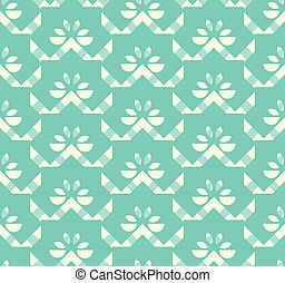 seamless aqua floral tags