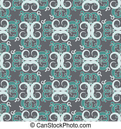 seamless baroque vector pattern