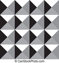 seamless grayscale prism pattern - black white and grayscale...