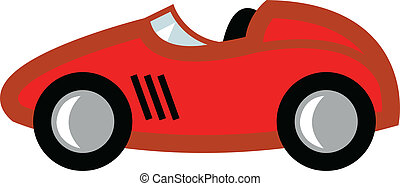 Race Car Cartoon - Race car in cartoon style or child\'s toy...