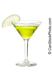 Apple martini - isolated Apple martini