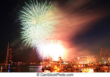 Fireworks, Victoria, BC, Canada - Fireworks Display in...