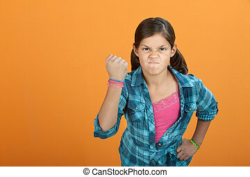 Brave Angry Little Girl