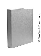 ring binder - a gray ring binder on a white background