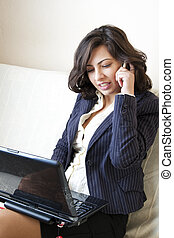 business woman phone call beautiful - business woman phone...