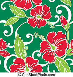 Seamless Tropical Holiday Pattern - Vector Illustration of a...