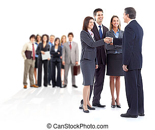 Business team. - Large group of business people. Teamwork.