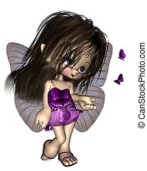 Toon Butterfly Fairy - Purple