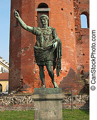 Caesar Augustus statue - Caesar Augustus monument at...
