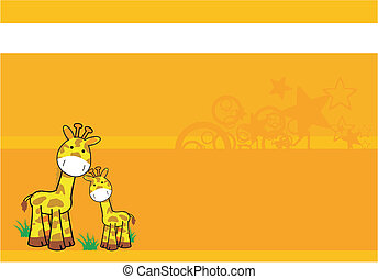 giraffe cartoon background 07 - giraffe cartoon background...