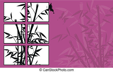 bamboo background 09 - bamboo background  in vector format