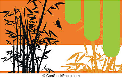 bamboo background 03 - bamboo background in vector format