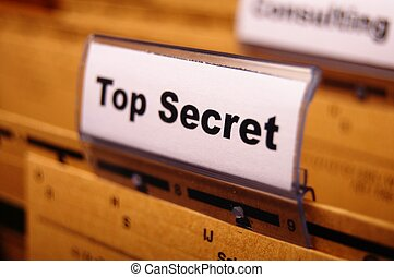 top secret folder or file in a business office
