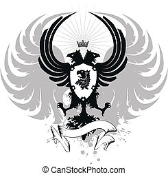 heraldic eagle double head08 - heraldic eagle double head in...