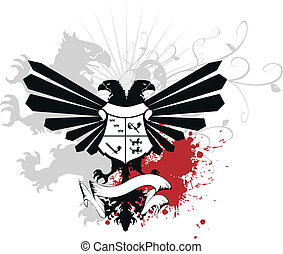 heraldic eagle double head05 - heraldic eagle double head in...