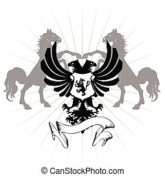 heraldic eagle double head07 - heraldic eagle double head in...