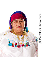 Latin Gypsy woman - Face of a beautiful senior Latin Gypsy...