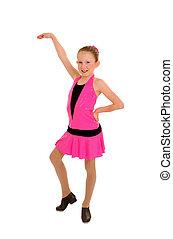 Happy Tap Dancing Girl