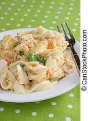 Chicken & Noodle Casserole - Creamy chicken noodle casserole...