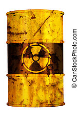 barrel nuclear waste - barrel radio active waste from...
