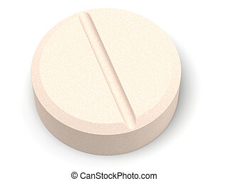 Tablet - The three-dimensional, cartoon image of a tablet on...