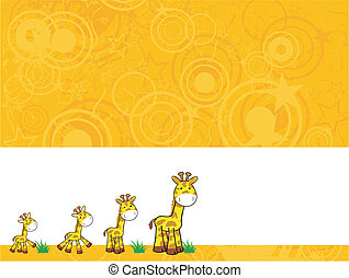 giraffe cartoon background2 - giraffe cartoon background in...