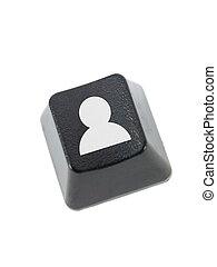 Keyboard Key - A keyboard key isolated against a white...
