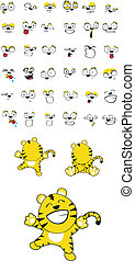 tiger baby cartoon set10 - tiger baby cartoon set in vector...