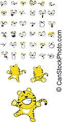 tiger baby cartoon set10 - tiger baby cartoon set in vector...