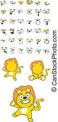 lion baby cartoon set7 - lion baby cartoon set in vector...