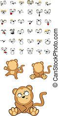 monkey baby cartoon set5 - monkey baby cartoon set in vector...
