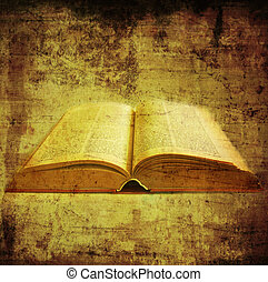 old book over grunge background