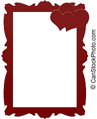 Red frame with hearts