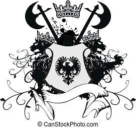 heraldic coat of arms5 - heraldic coat of arms in vector...